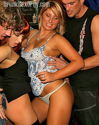 Very hot babes getting drunk at an orgy party and having sex